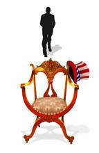 Empty Presidential Chair.