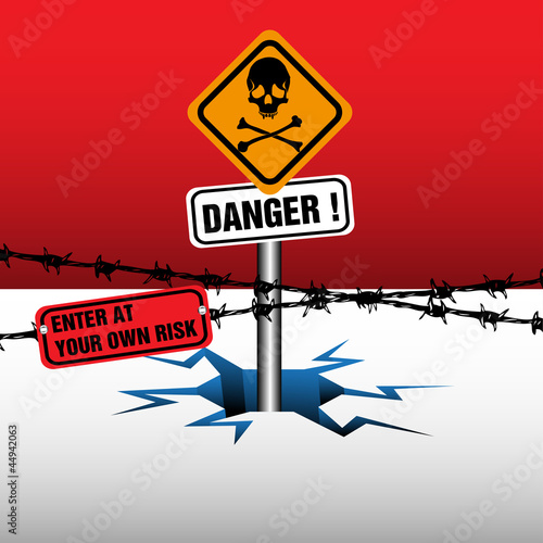 Danger zone Canvas Print