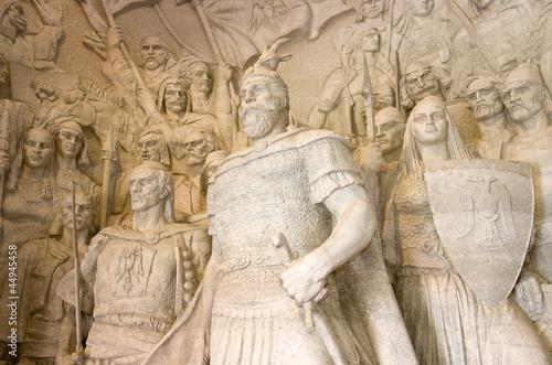 Canvas Print Statue Of G. K. Skanderbeg, Kruja
