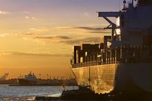 Sunset Cargo-Ship