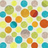 retro circle pattern background