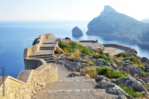 Fotografie, Obraz  viewing platform with a seaview on mallorca on formentor cape