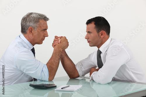 Fotografie, Obraz  Businessmen arm wrestling