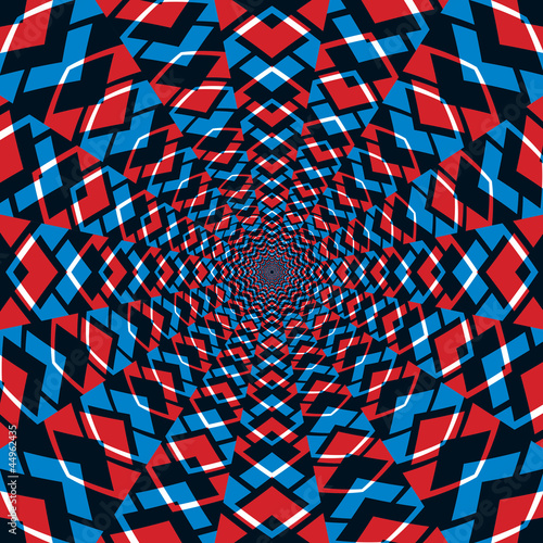 In de dag Psychedelic Abstract background, red and blue.
