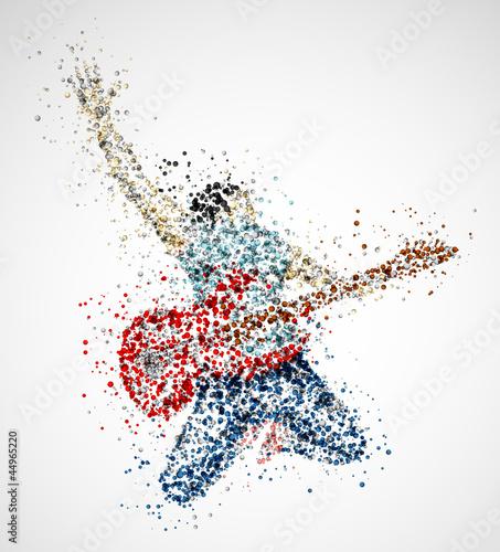 Plakat na zamówienie Abstract guitarist