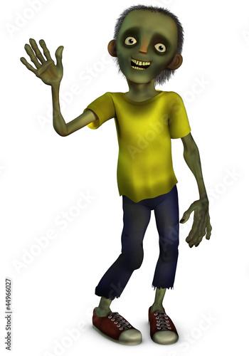 Foto op Aluminium Sweet Monsters cartoon zombie boy