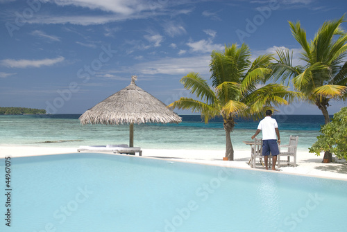 Cadres-photo bureau Tropical plage Pool attendant