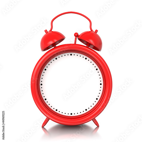 3D alarm clock with blank space for your text, graphic or