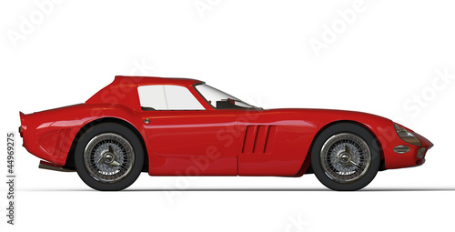Poster Cars Red italian vintage race car