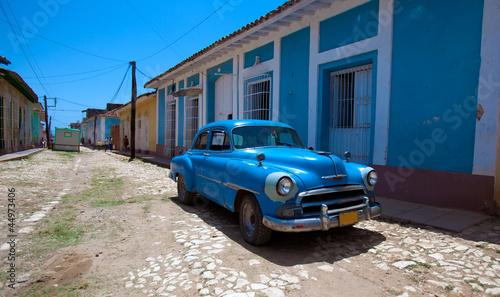 Vintage car in the old town, Trinidad, Cuba