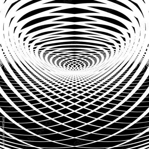 Wall Murals Psychedelic Optical illusion abstract background.