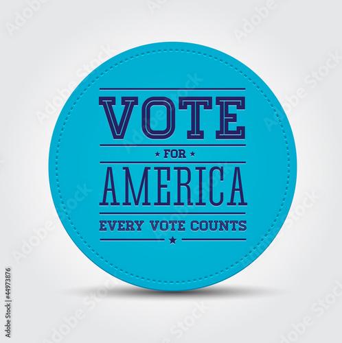 Fotografie, Tablou Vote for America - Your votes counts