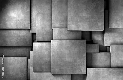 fototapeta na lodówkę Fondo abstracto 3d, Bloques de cemento