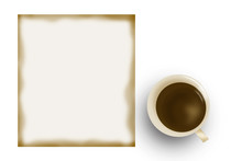 Blank Notebook Coffee Cup