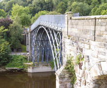 Iron Bridge Over River Severn,...