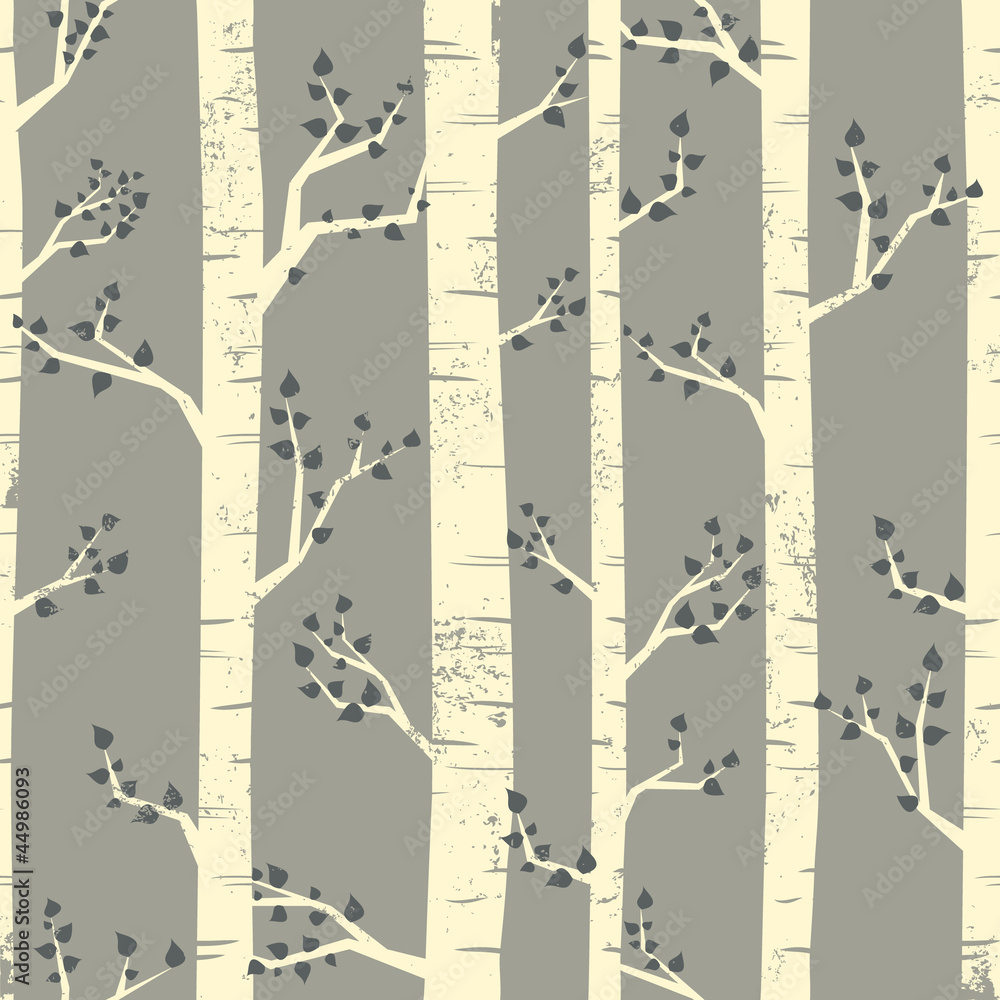 Birch Trees Background
