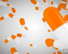 Floating Orange Pills