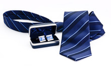 Man Cuff Links In Box And Tie ...