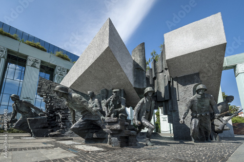 Warsaw Uprising Monument in Warsaw, Poland