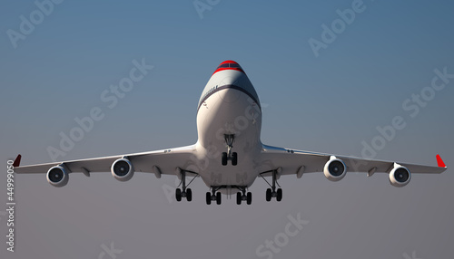 Tela  Large Jumbo Jet is landing