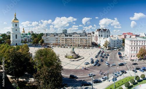 Foto op Plexiglas Kiev Летний вид на Софийскую площадь, Киев