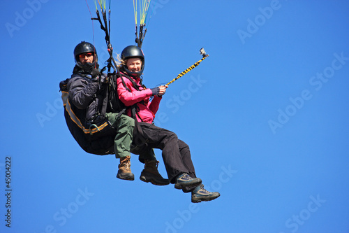 Canvas Prints Sky sports tandem paraglider