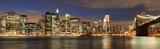 Evening´s skyline of Manhattan from Brooklyn side, New York, USA
