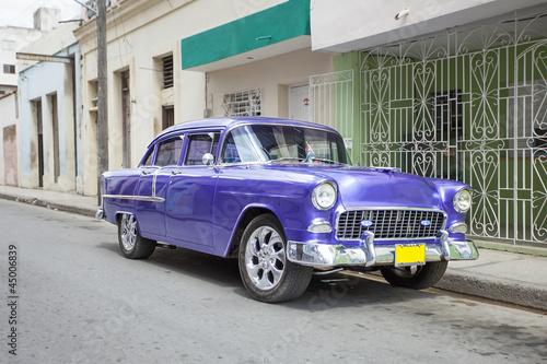Deurstickers Cubaanse oldtimers Old car