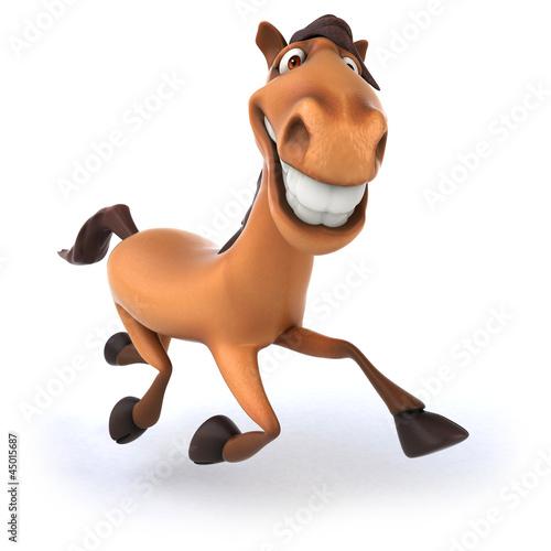 Fotobehang Boerderij Fun horse