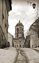 Street With Tower In Vyborg