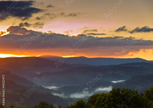 Twilight in Ribeiro valley