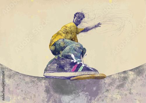 skater-rysunek-odreczny