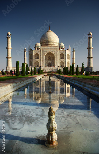 Staande foto India Taj Mahal in Agra