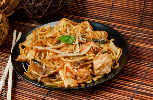 Chicken chow mein Wallpaper Mural