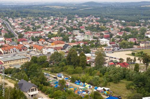 Fototapeta Olsztyn town - aerial view.