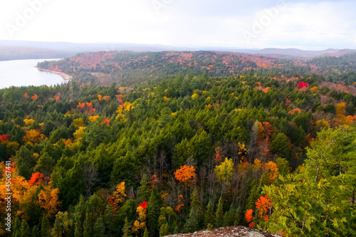 Autumn Colors Algonquin Provincial Park in Ontario, Canada Canvas Print