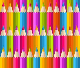 Fototapeta samoprzylepna Rainbow pencils pattern