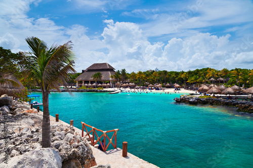 Staande foto Mexico Xcaret Beach in the Mayan Riviera