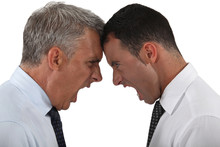 Two Businessmen Having An Argument
