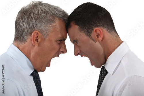Two businessmen having an argument Canvas Print