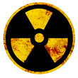 canvas print picture - Nuclear sign