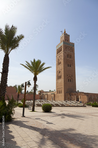Recess Fitting Morocco Koutoubia mosque in Marrakesh