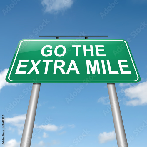 Go the extra mile. Poster