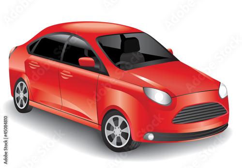 Fotobehang Snelle auto s Red car