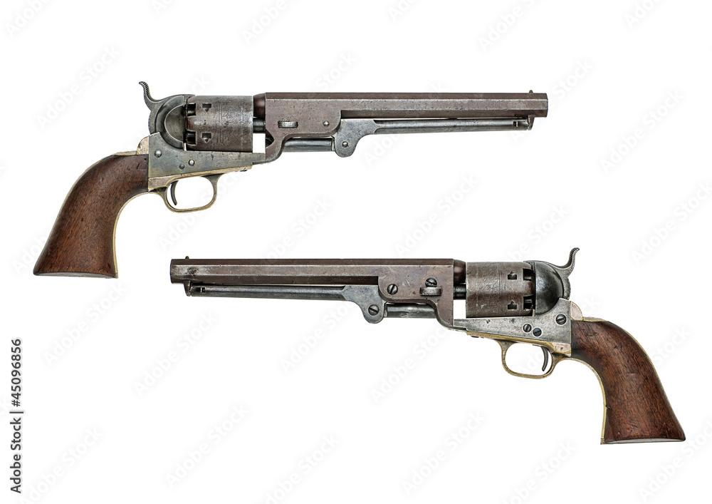 Fototapeta antiker amerikanischer Colt Navy Perkussionsrevolver