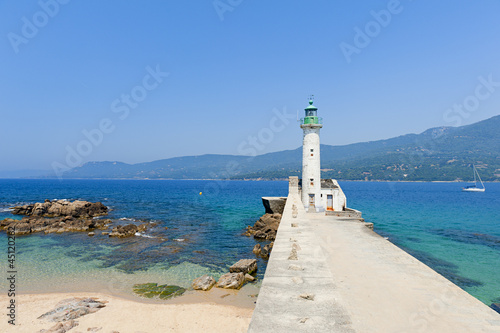 Photo sur Toile Phare Lighthouse of Propriano, Corsica