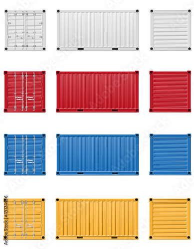 Fotografie, Obraz  cargo container vector illustration