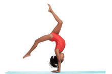 Young Girl Doing Gymnastics Wi...