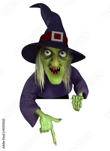 Poster de jardin Doux monstres witch