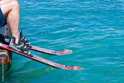 Fotografie, Obraz  initiation au ski nautique